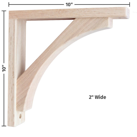 Oak Craftsman 10 Corbel for Pre-Installed Countertops by Tyler Morris Woodworking