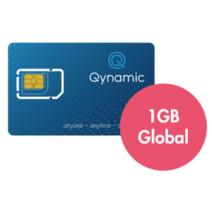 Q-Travel incl. 1GB data for Zone Global, Q-SIM, Qynamic, Qynamic Switzerland  - Qynamic