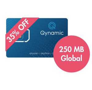 Q-Travel incl. 250 MB data for Zone Global, Q-SIM, Qynamic, Qynamic Switzerland  - Qynamic