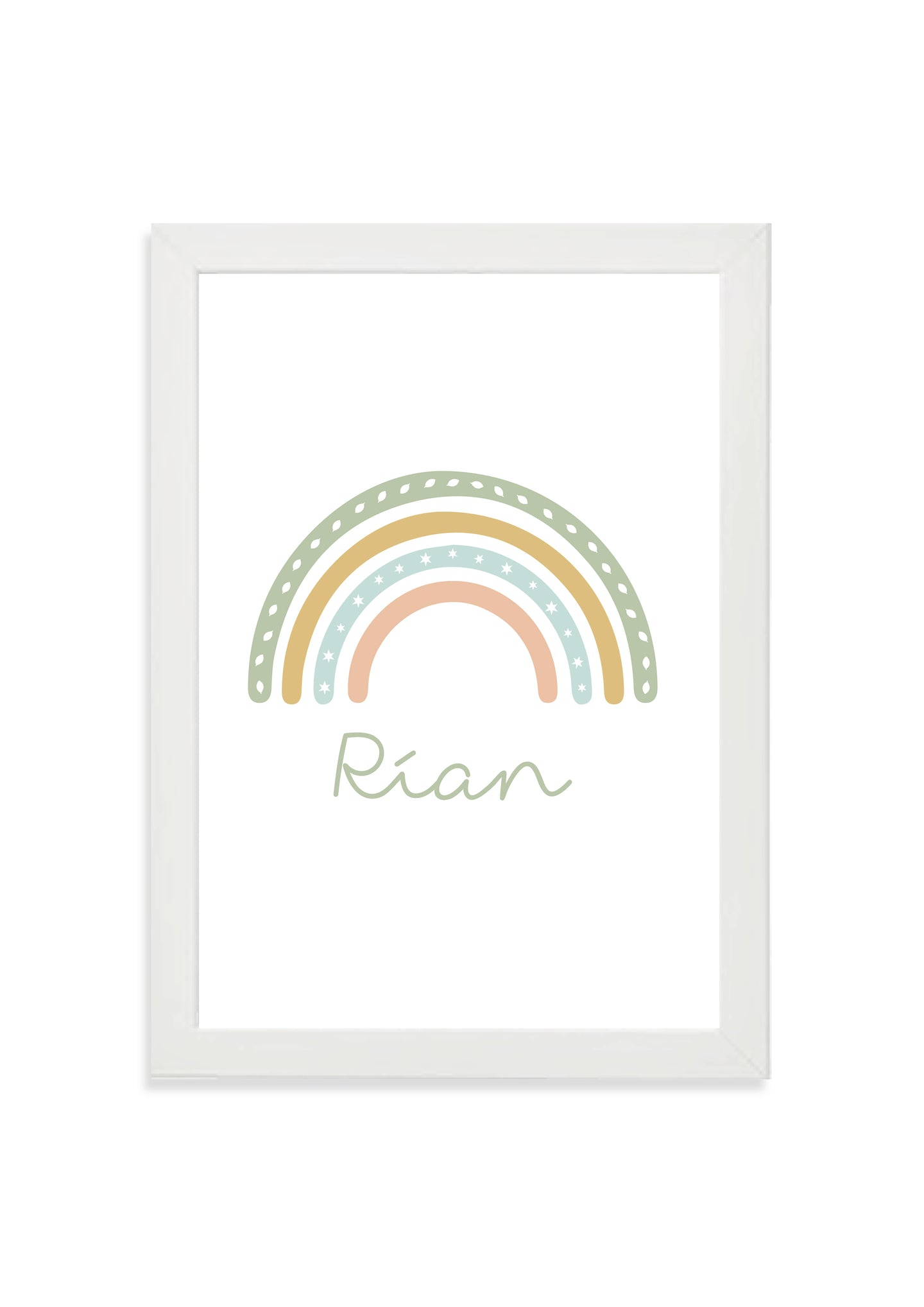 Customisable rainbow print