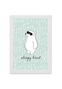 Sleepy Head Bear (green)