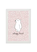 Load image into Gallery viewer, Sleepy Head Bear (pink)