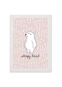Sleepy Head Bear (pink)