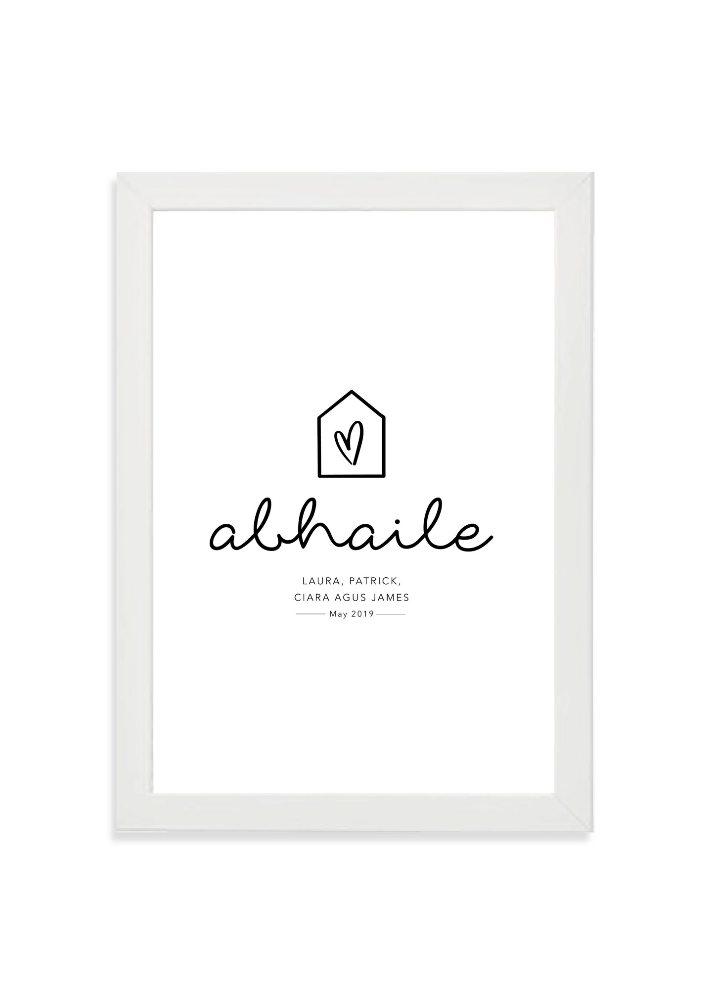 Customisable abhaile print