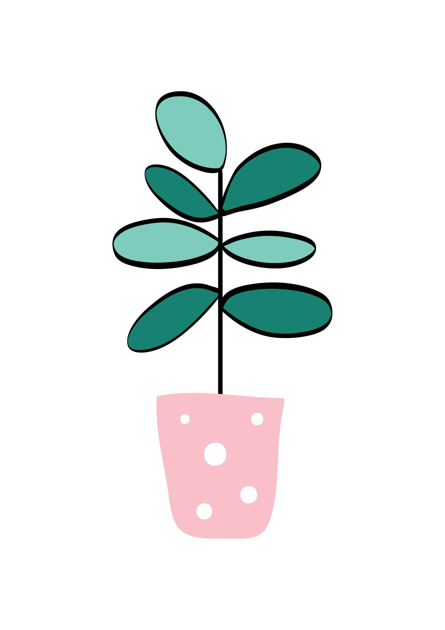 Plant (pink & green)