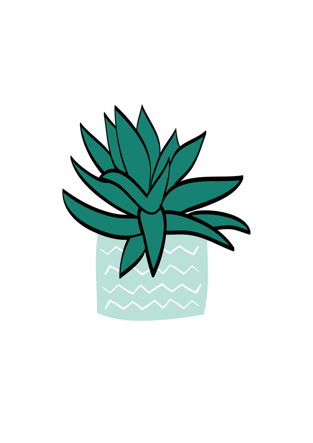 Plant (blue & green)