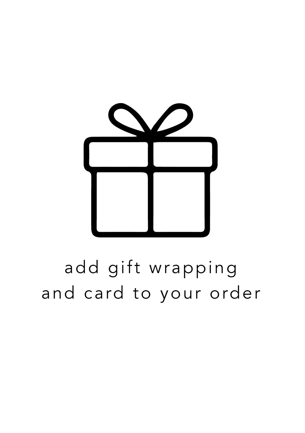 gift wrapping & card