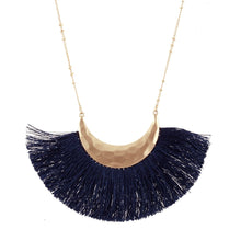 Load image into Gallery viewer, Navy Fringe Necklace l A&B's Boutique