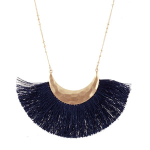 Navy Fringe Necklace l A&B's Boutique