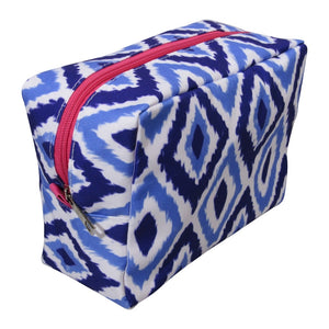 Blue Ikat Cosmetic Bag l A&B's Boutique