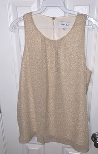 Natural Leopard Sleeveless Top