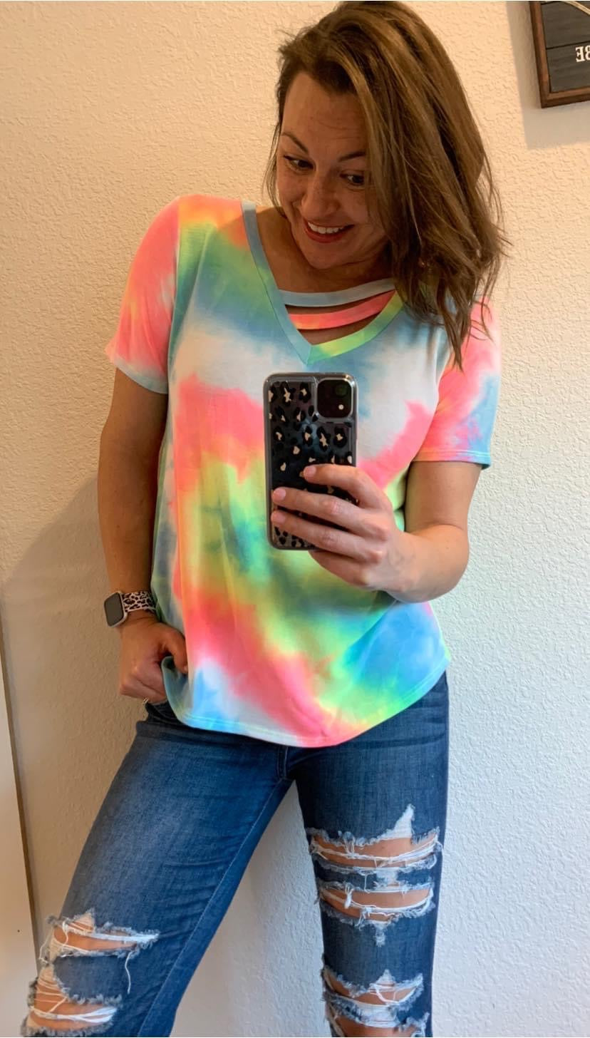 Tie Dye Top l A&B's Boutique
