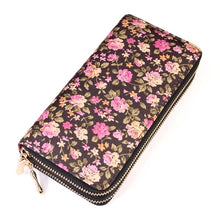 Load image into Gallery viewer, Floral Double Zip Wallet l A&B's Boutique