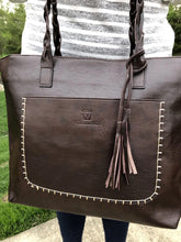 Load image into Gallery viewer, Braided Handle Tassel Tote l A&B's Boutique