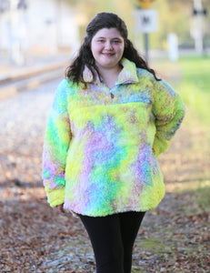 Tie Dye Sherpa Pullover l A&B's Boutique