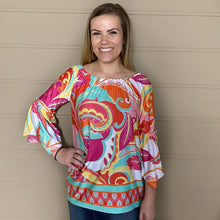Load image into Gallery viewer, 3/4 Bell Sleeve Peasant Top l A&B's Boutique