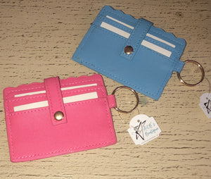 Scalloped Keychain Card Holders l A&B's Boutique