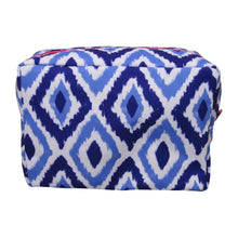 Load image into Gallery viewer, Blue Ikat Cosmetic Bag l A&B's Boutique
