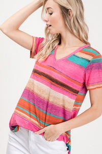 See Me Now Striped Top l A&B's Boutique