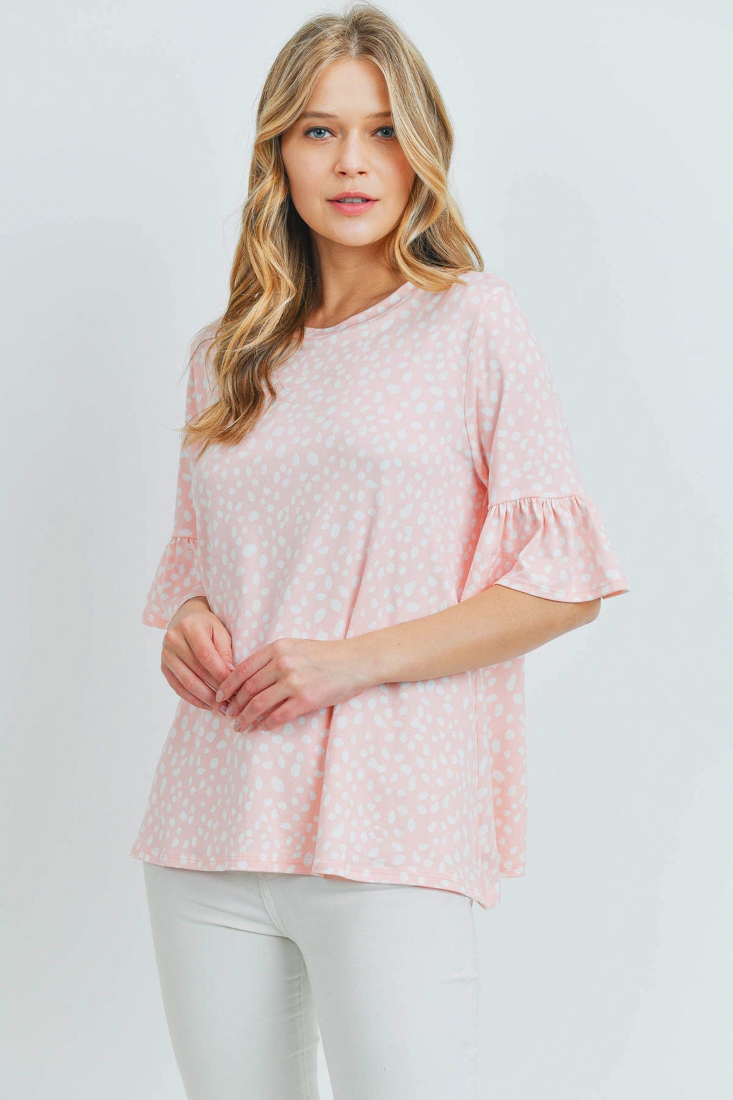 Blush Bell Sleeves Top