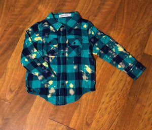 Bleached Button Up ~ 4T l A&B's Boutique