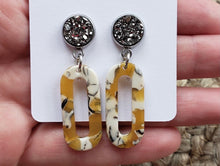 Load image into Gallery viewer, Mustard Dainty Oval Dangles l A&B's Boutique
