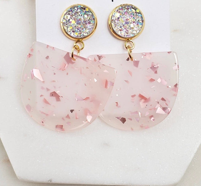 Light Rose Gold Lola Earrings l A&B's Boutique