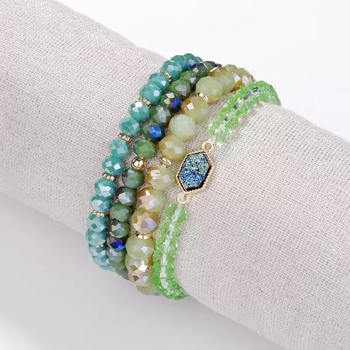Druzy Bracelet Set l A&B's Boutique