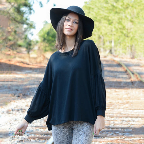 Balloon Sleeve Top l A&B's Boutique