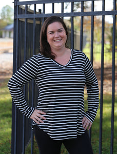 Long Sleeve Striped Top l A&B's Boutique