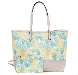 Pineapple Tote w/Pouch l A&B's Boutique