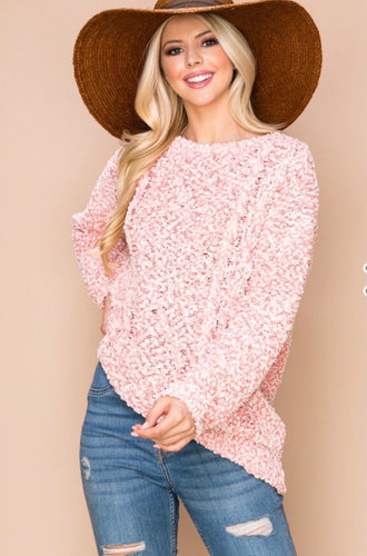 Pink Confetti Sweater l A&B's Boutique