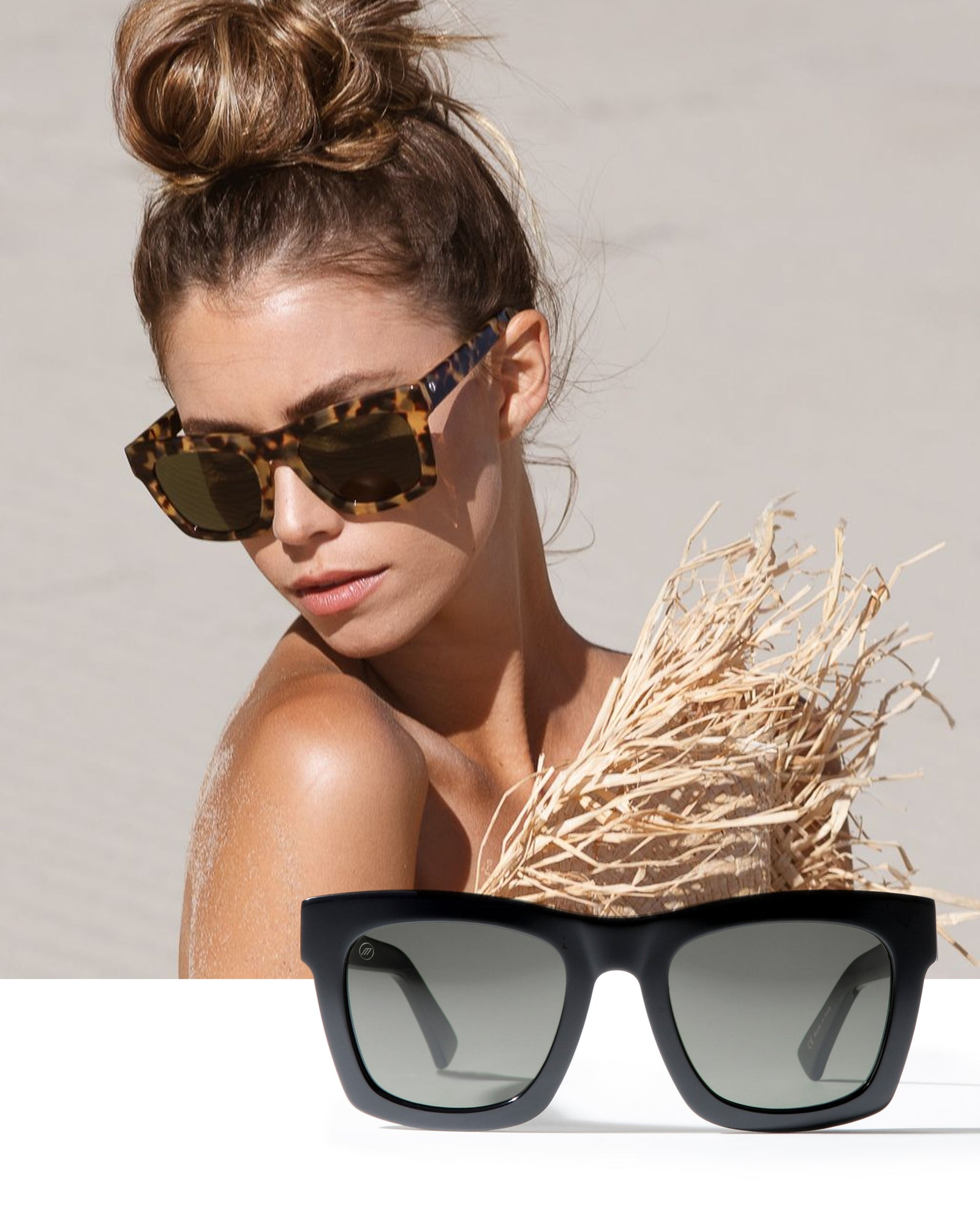 Woman wearing the Crasher sunglasses