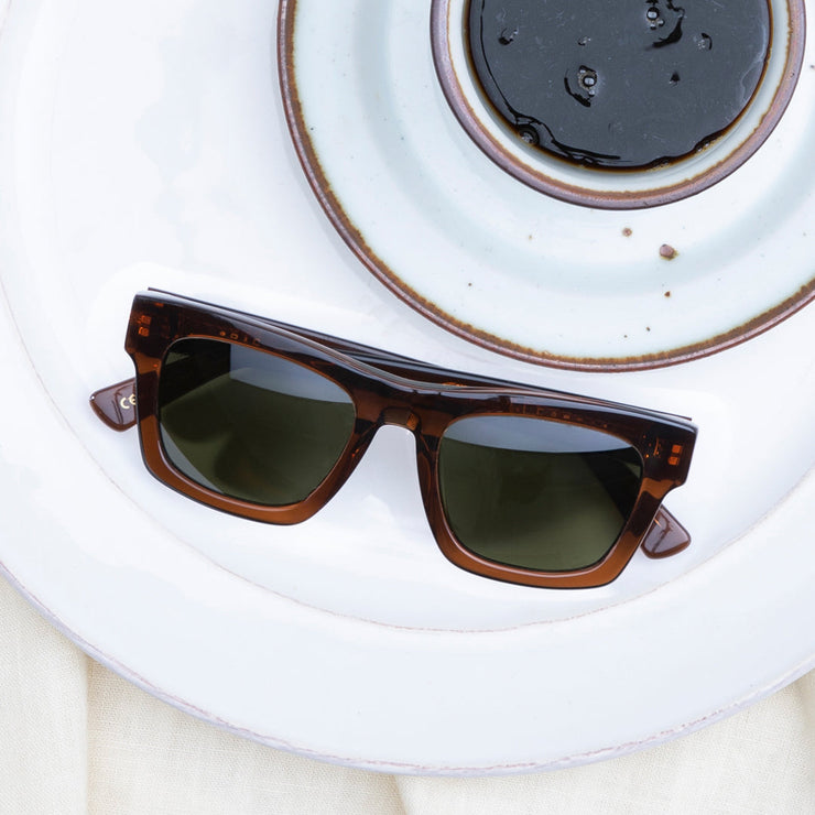 Crasher 49 Sunglass in Coffee / Grey Polarized