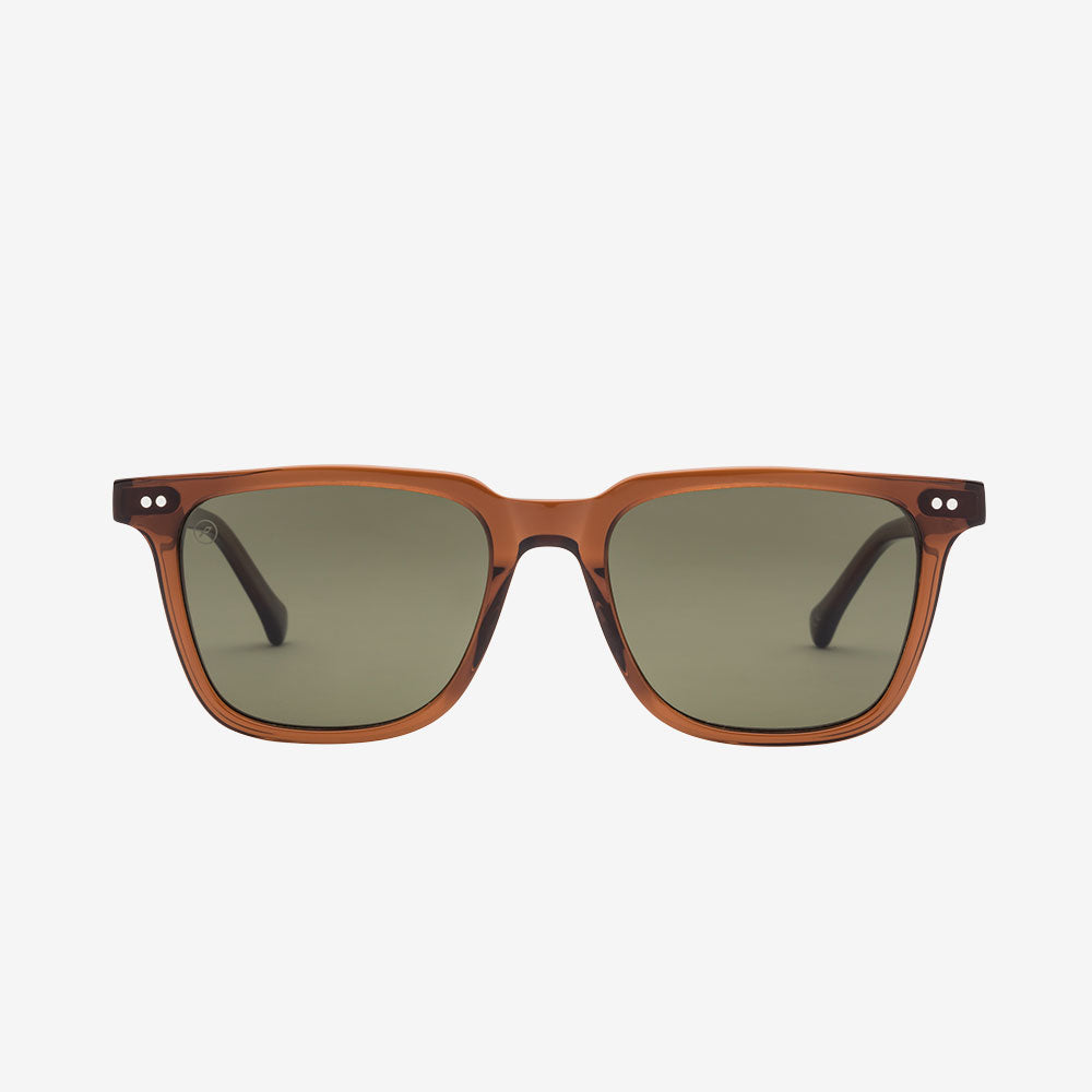 Electric Sunglass - Birch -Coffee Bio Acetate / Grey Polarized