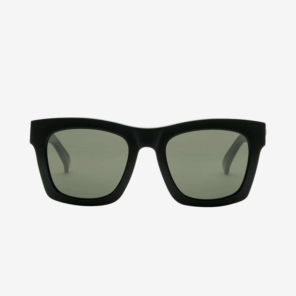 Electric Crasher Men and Women's Sunglass - Gloss Black / Medium - 49mm / Grey Polarized