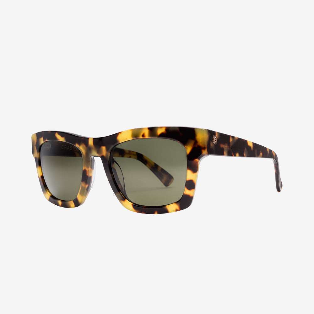 """Electric Crasher Men and Women's Sunglass - Gloss Spotted Tort / Medium - 49mm / Grey Polarized """