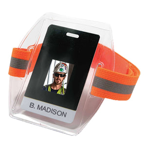 Vinyl ID/Card Holder with Elastic Arm Band