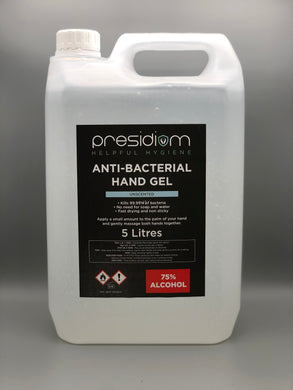 Presidiom 75% Alcohol Hand Sanitiser - 5 Litre Refill - Unscented