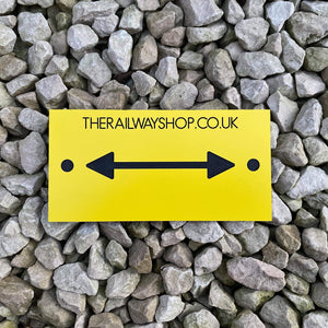 Directional Arrow Plate - Single/Double