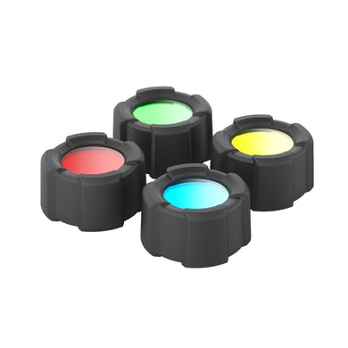LED Lenser® 39mm Colour Filter Set for i9R Red/Green/Blue/Yellow Aspect