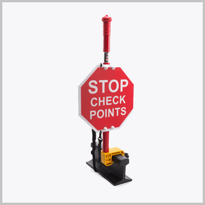 Stop Check Points Sign