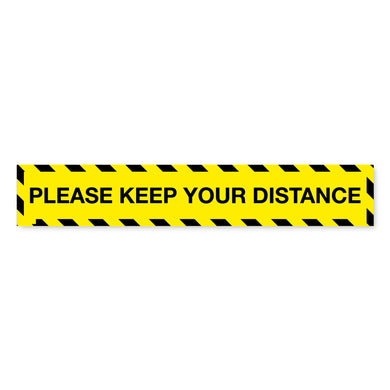 Please Keep Your Distance Floor Tape - 600 x 100mm