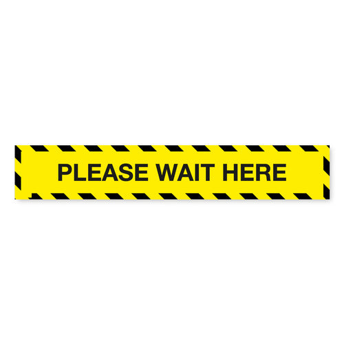 Please Wait Here Floor Tape - 600 x 100mm