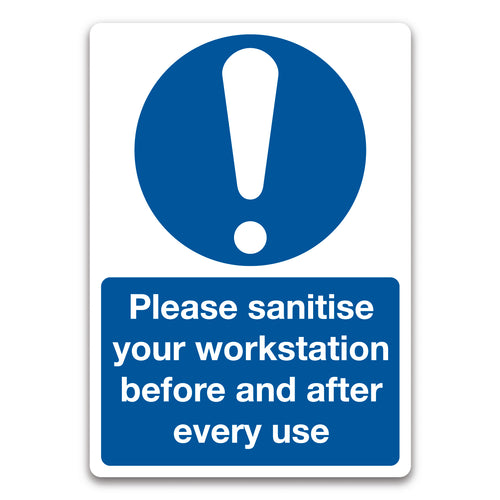 Work Station Sanitation Sign