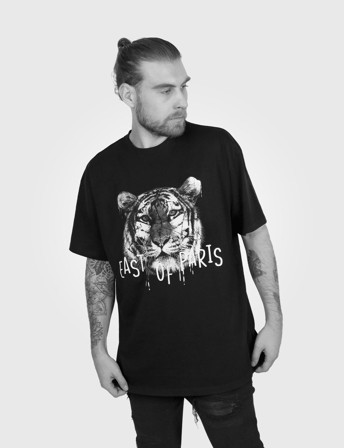 Tiger Heavy Cotton Tee Front Model