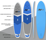 "SUP ATX Paddle Board | Model: VIKING | Length 10'6"" Color: Blue w/ Carbon Fiber Paddles"
