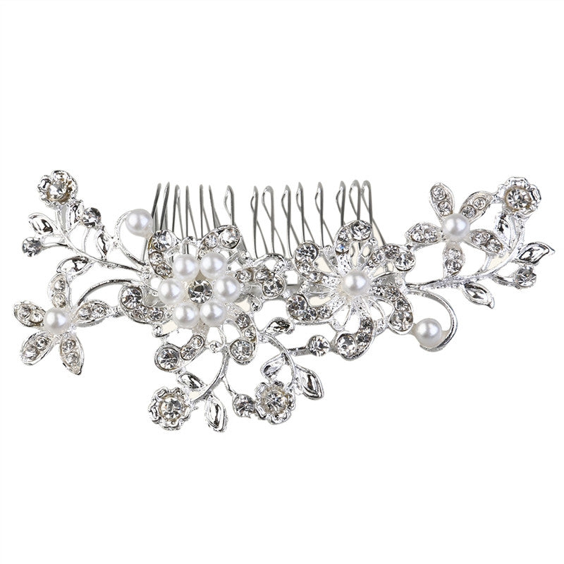 Beautiful Wedding Party Bridal Pearls Decor Flower Hairpin Hair Decoration