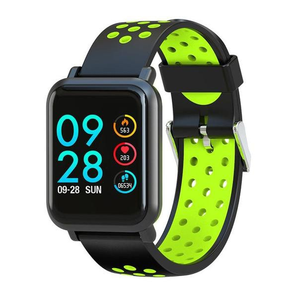 2019 Smartwatch for Android and iOS with Classic Green Sport Band