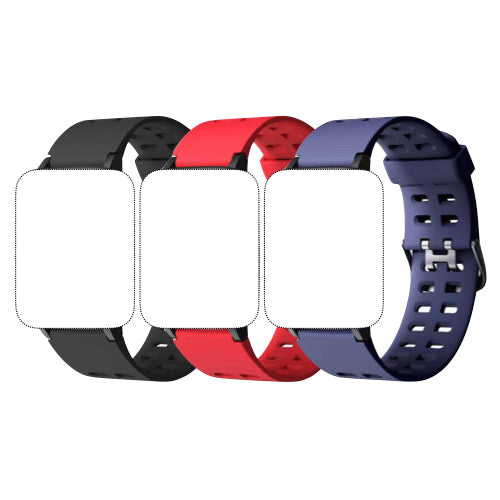 Replacement Bands for 2020 Smartwatch 3-Pack (Black, Red, Purple)